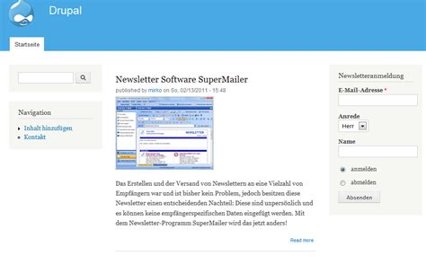 newsletter software supermailer modul newsletteranmeldung
