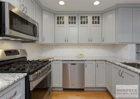 Norfolk Kitchen Cabinets by Condo Kitchen Remodel In Burlington Ma Norfolk Kitchen