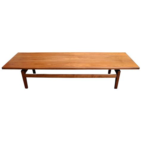 Modern Low Coffee Table Mid Century Modern Solid Walnut Low Coffee Table Or Bench By Jens Risom For Sale At 1stdibs