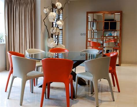 colorful dining table round glass dining tables that make a stylish impression