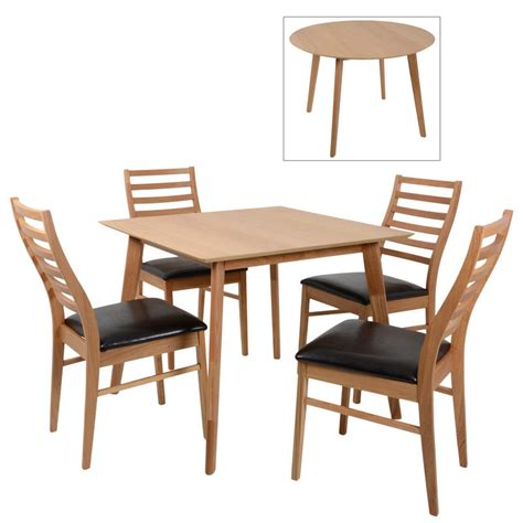 mackintosh oak wood dining table set with 4 chairs