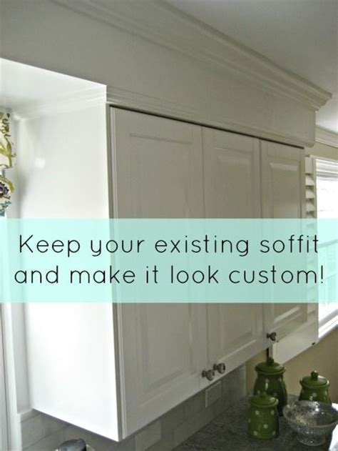 Use Crown Molding And Cabinet Trim To Make Soffit Look Kitchen Soffit Crown Molding