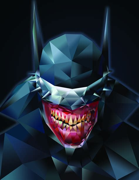 wallpaper batman low poly gradient low poly the batman who laughs by jakeformer on