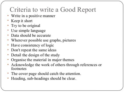 how to write a report on a research paper how to write research report