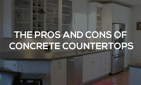 concrete countertops pros and cons edmonton granite quartz