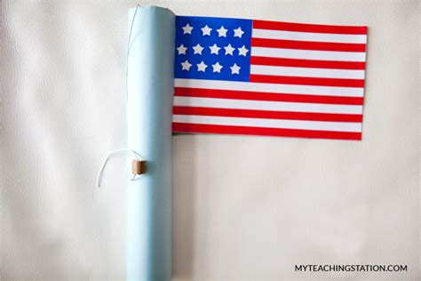 How To Make A Flag Out Of Paper - simple memorial day craft myteachingstation