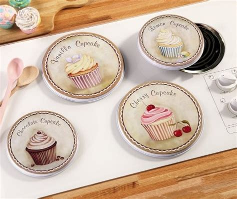 Cupcake Kitchen Curtains Cupcake Kitchen Decorative Stove Top Burner Cover Set By Collections Etc 11 99 Teller 2