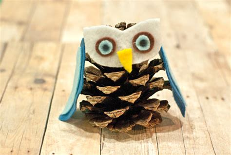 creative ideas  diy pine cone owls guide patterns