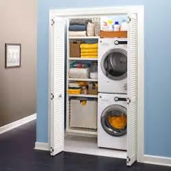 create a closet laundry