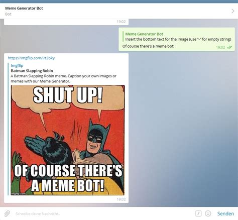 Meme Generator Bot - 11 coole extras f 252 r telegram whatsapp user aufgepasst
