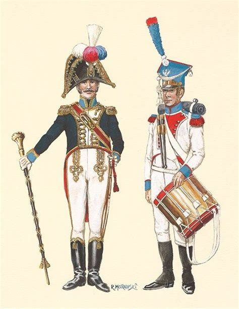 Infantry 045 W L duchy of warsaw drum major drummer napoleonic wars warsaw drums and drummers
