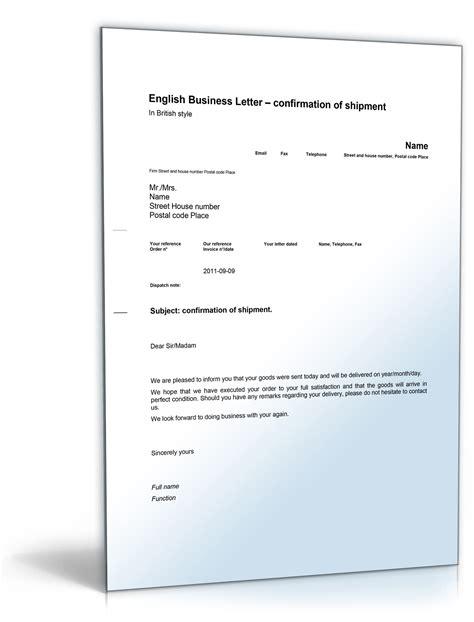 Musterbrief Fristsetzung Gesch 228 Ftsbrief Versandbest 228 Tigung Shipment Confirmation De Musterbrief