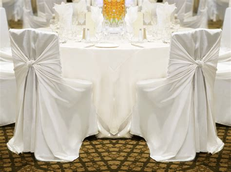 chaise pour mariage 100 white satin universal self tie chair covers wedding ebay