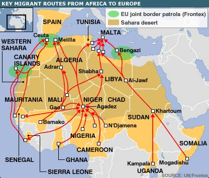 nature of migration pattern in nigeria bbc news europe key facts africa to europe migration