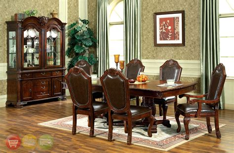 formal dining room sets with china cabinet chateau traditional 9 piece formal dining room set