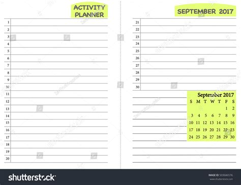 month planner template september 2017 calendar template monthly planner stock