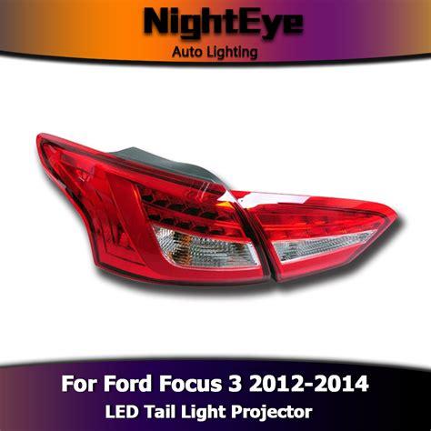 2014 ford focus brake light 2pcs led tail light brake stop rear l turn signal for