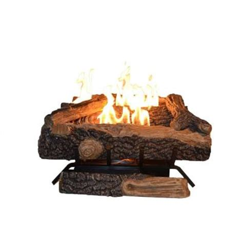 Home Depot Fireplace Logs emberglow oakwood 24 in vent free gas fireplace