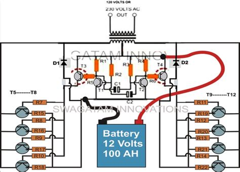 car inverter circuit diagram how to make a simple 200 va power inverter