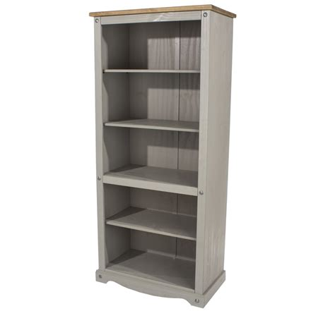 grey bookcase with doors tall bookcase solid oakland chunky oak tall wide bookcase