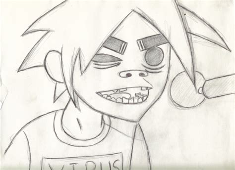 2d sketch how to draw 2d gorillaz