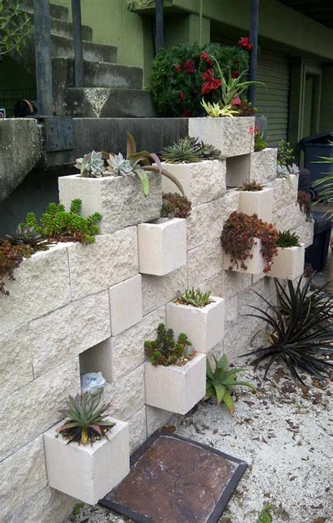 cinder block planters awesome home projects created from concrete cinder blocks architecture design