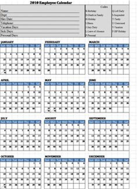Printable Employee Attendance Calendar Template 2016 Calendar Template 2018 Free 2018 Employee Attendance Calendar Templates At Allbusinesstemplates