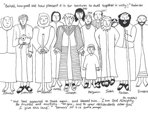 joseph and his brothers coloring pages free coloring pages