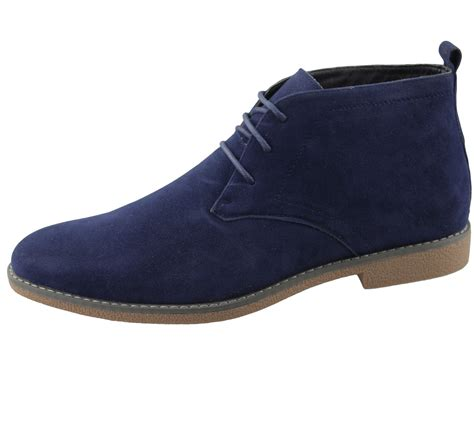 classic shoes mens synthetic suede desert boots casual lace up winter