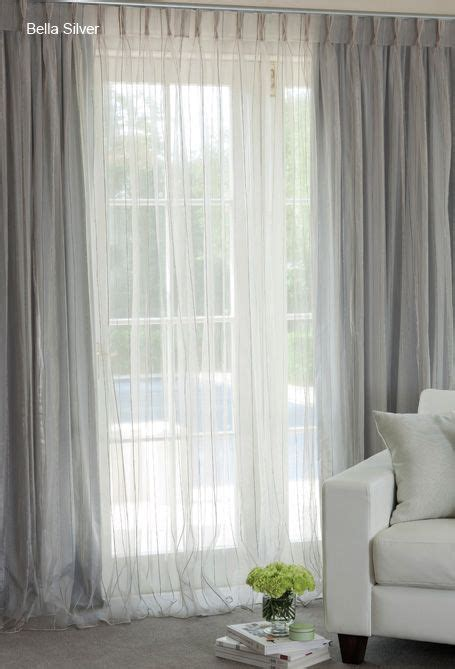 silver sheer curtains sheer curtains over blockouts in shimmering silver i