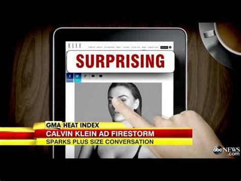 Calvin Klein S Plus Size Model Sparks Controversy - calvin klein plus size model sparks controversy youtube