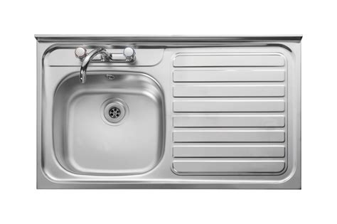 stainless steel kitchen sink right hand drainer leisure contract lc106r 1 0 bowl 2th stainless steel