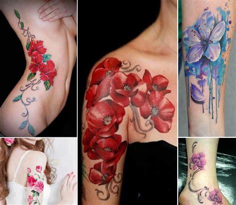 tatuaggi fiori senza contorno tatuaggi con fiori la magia de los tatuajes