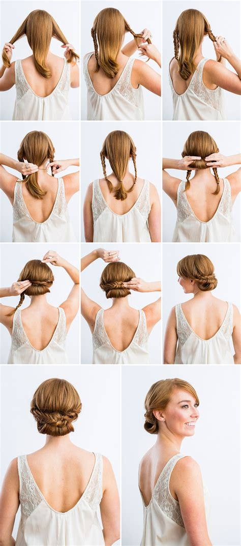 Wedding Hairstyles For Hair Tutorials by 10 Best Diy Wedding Hairstyles With Tutorials Tulle
