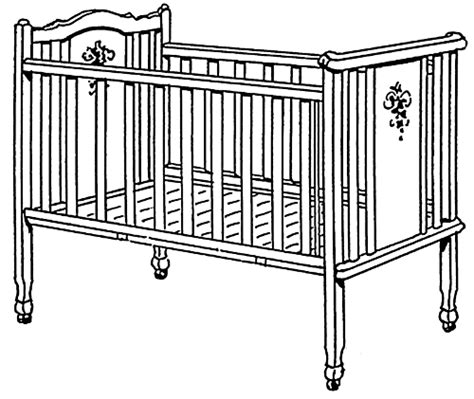 Baby Crib Clipart Crib Large Baby Baby Accessories Crib Large Png Html