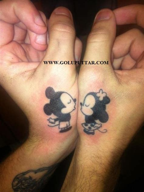cartoon couple tattoos for on wrist photos and ideas