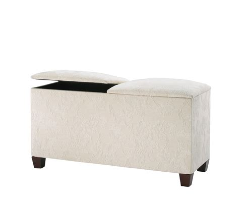 beech ottoman normandy twin lid ottoman faux leather ice white beech