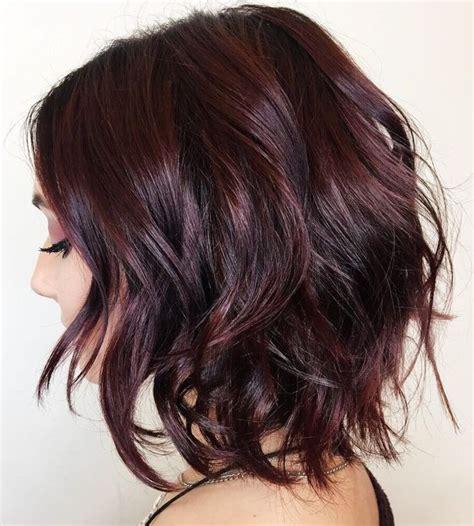 burgundy highlights on shag haircuts best 25 messy bob ideas on pinterest textured bob