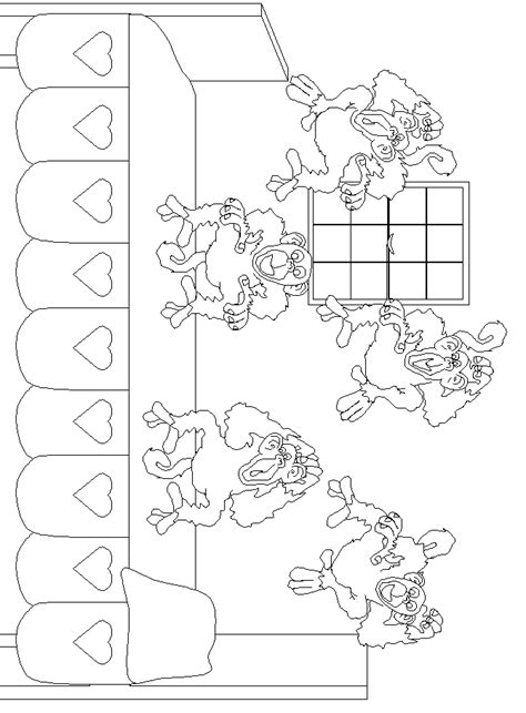 coloring pages monkeys jumping bed coloring pages monkeys jumping bed