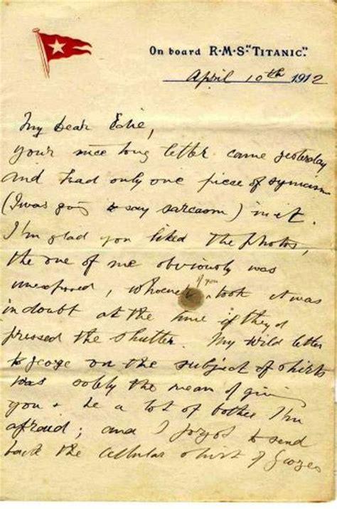 Présentation De La Lettre Privée Le Titanic S Expose 100 Apr 232 S Au Mus 233 E Des Lettres Et Manuscrits L Express
