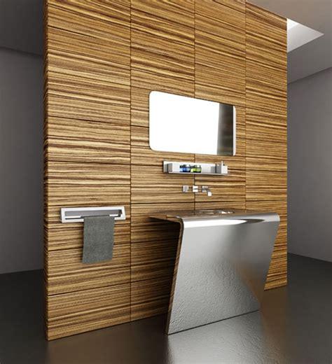 legno bagno idee bagno moderno con inserti in legno e pietra