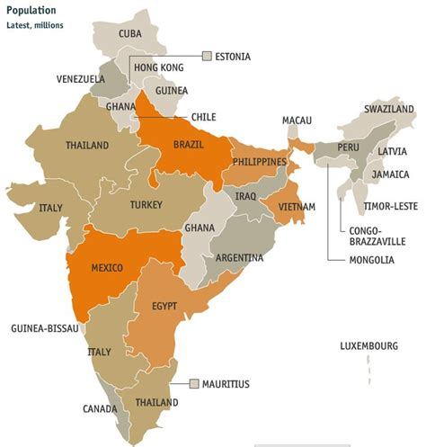 indian states indian states compared to world countries of closest