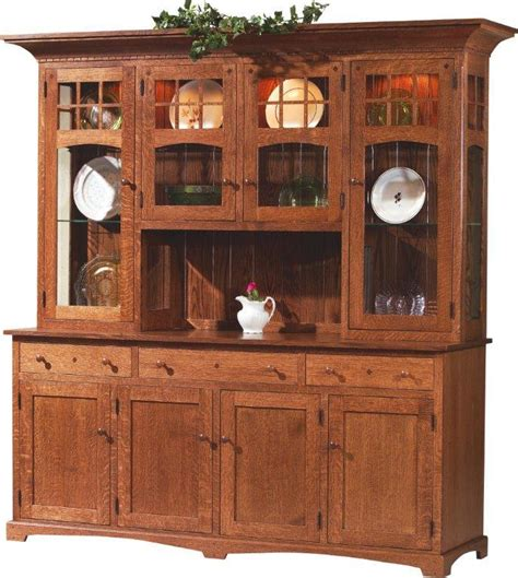 dining room buffet with hutch amish royal santa fe four door hutch and buffet