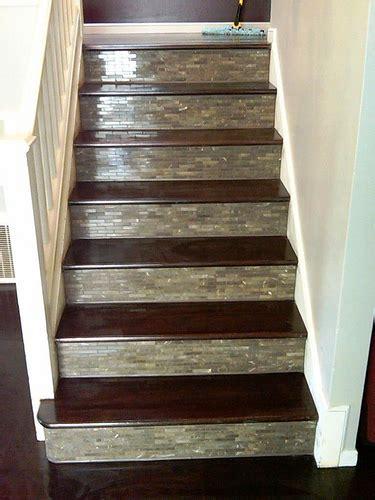 custom tile wood stairs and wood floor
