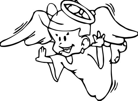 flying angel coloring page angel boy flying coloring page wecoloringpage