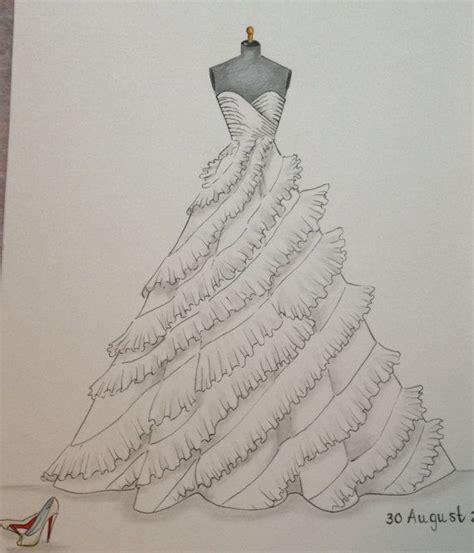 pattern drawing dress 464 best gown illustrations images on pinterest the