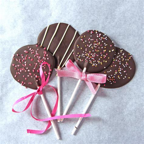 Handmade Chocolate Lollipops - lollipops for savvy nana
