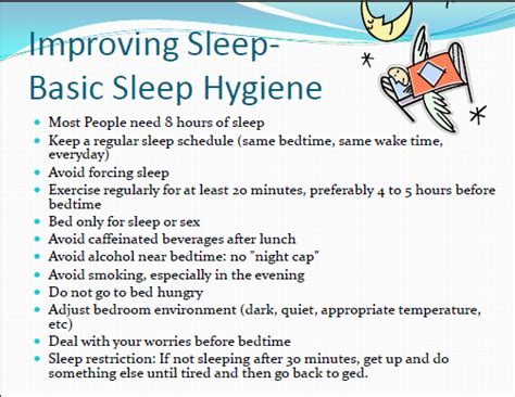 Sleep Hygiene Worksheet by Fighting Fatigue In Residency And For The