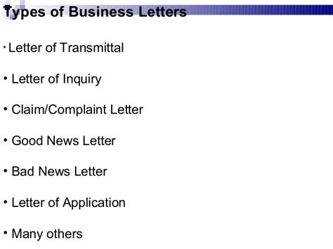 Inquiry Letter In Business Communication Business Communication Chap 2 Business Writing