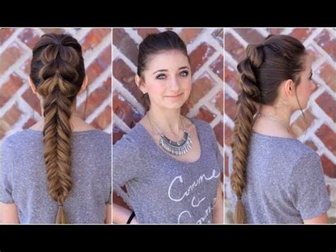 cute girls hairstyles for your crush pull through fishtail combo cute braids youtube
